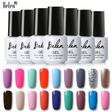 Belen 7ml UV Gel Pure Kleuren Nagellak LED Lamp Gel Lak 50 Kleur Gel Polish Semi Permanente Gel vernis Nail Primer BaseTop(China)