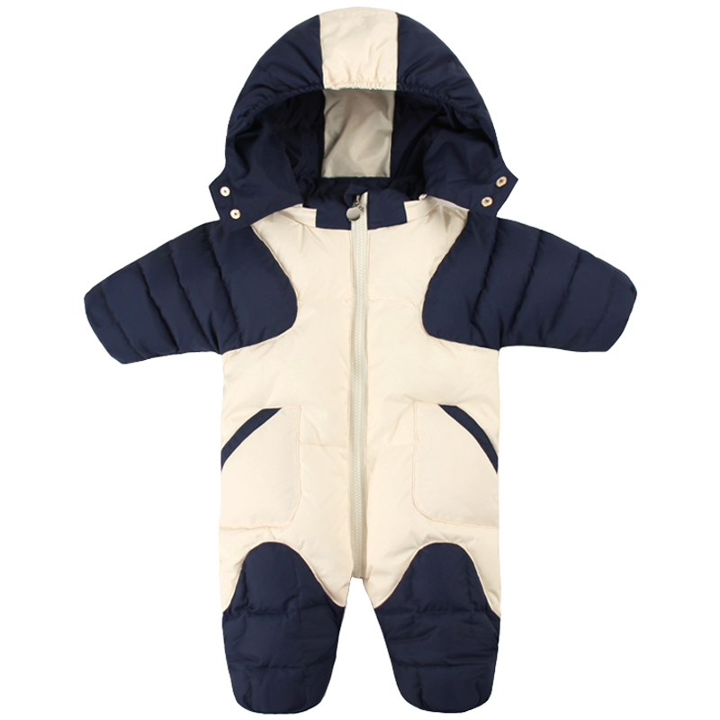 Russia Winter Newborn Snowsuits Baby Boys Girls 90% White Duck Down Infant Hooded Rompers Toddler Jumpsuit Kids Outerwear E193Russia Winter Newborn Snowsuits Baby Boys Girls 90% White Duck Down Infant Hooded Rompers Toddler Jumpsuit Kids Outerwear E193