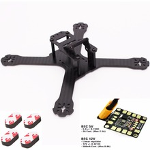 Mini Drone  QAV-X 214mm 3mm/4mm Carbon Fiber FPV Racing Frame w/ 5V 12V PDB For  QAV-X CHARPU FPV Racing Quadcopter