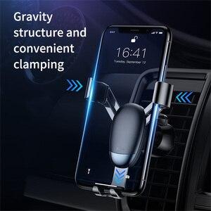 Image 2 - Baseus מיני הכבידה טלפון מחזיק אוויר Vent רכב הר מחזיק עבור טלפון במכונית מחזיק טלפון Stand עבור iPhone X XS סמסונג S9