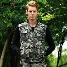 2017 New Autumn Brand Outdoors Travels Vest Tops Men Vest Plus Size M-4XL Photographer Vests Men Multi Pockets Jacket MS-6616A-B