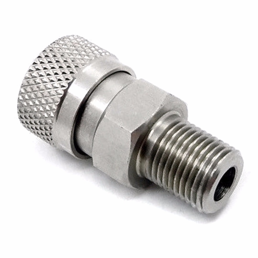 1pc Stainless Steel Quick Release Connectors 1/8BSP 400 Bar Disconnect Coupler Socket For Paintball PCP Air Rifles
