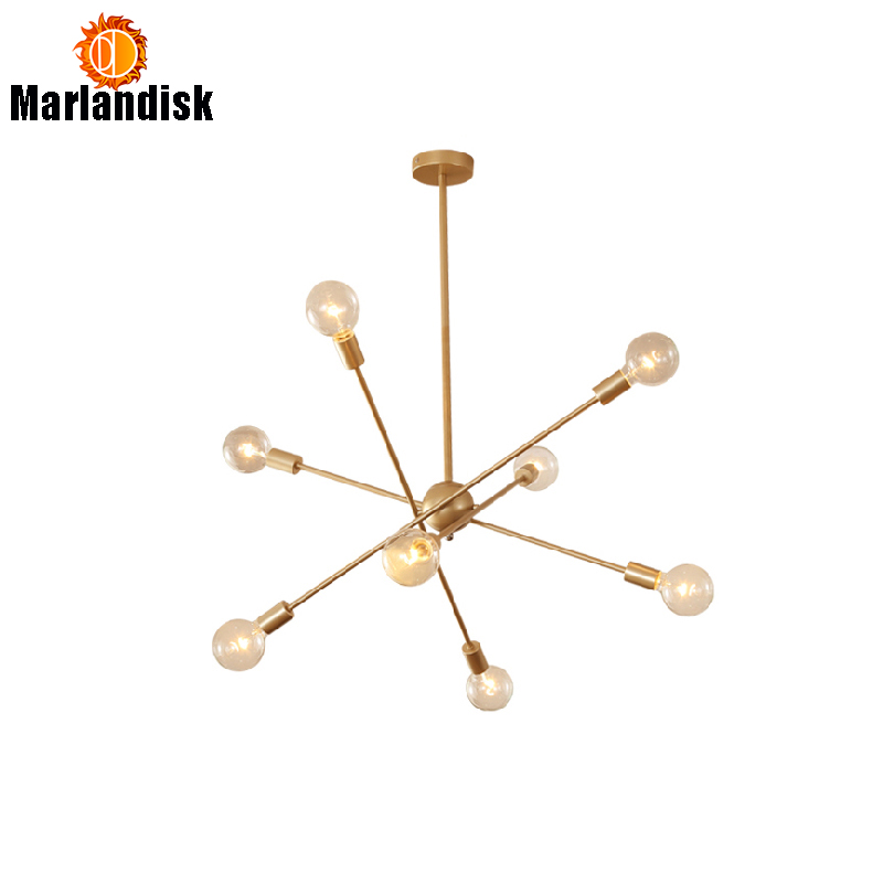 Post-modern Golden Hanging Lights 6 Head/8 Head Hanging Lamps Two Layers E27 Suspendsion Dinning Pendant Light Bedroom Lamp цена 2017