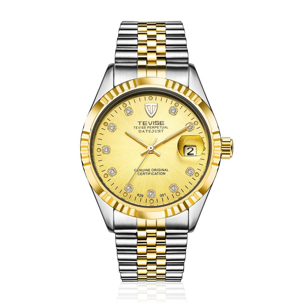 TEVISE Watch Business Luxury Wristwatch Waterproof Semi-automatic Mechanical Calendar Watch Luminous Casual Watches