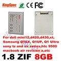 """L kingspec 1.8 """"polegada ATA7 ZIF CE 2 8 GB 2-Channel SSD Drive de Estado Sólido disk para sony para dell para hp para fujitsu disco rígido HDD"""