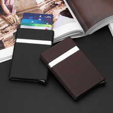купить 2019 New Card holder New Metal ID Credit Card Holder Anti Rfid Wallet Business Card Holder Wallet For Credit Cards Case дешево