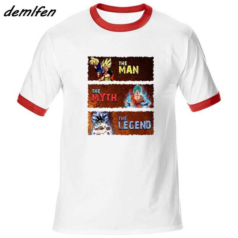 """Goku Dragon Ball Футболка с рукавами-реглан с длинными рукавами футболки из хлопка с круглым вырезом; плюс Размеры Человек Миф Легенда о Для мужчин рубашки безрукавки """"Аниме"""""""
