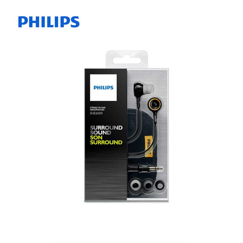 Auriculares deportivos originales Philips SHE6000, auriculares internos para correr para xiaomi Galaxy S9 S9Plus, certificación oficial