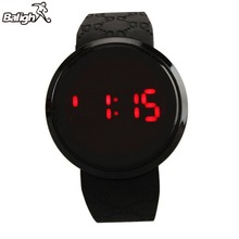 Waterproof Men Watch LED Touch Screen Date Fashion Silicone
