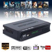 Mayitr 1080P DVB-S2 HD TV Receiver Digital Satellite IPTV Combo TV Box Receiver Supports USB WIFI Function