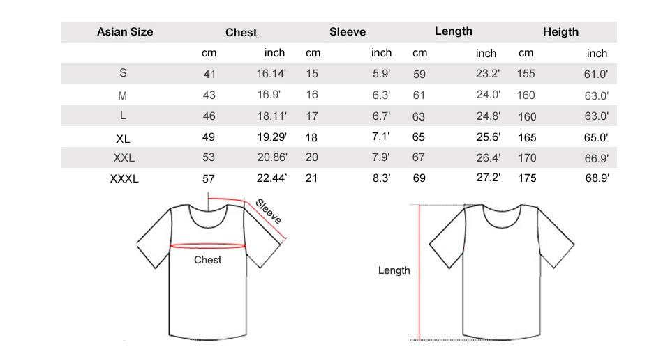 new women size chart 3XL