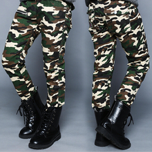 2017 spring autumn children pants formal camouflage print cotton boys pants for kids big boys long