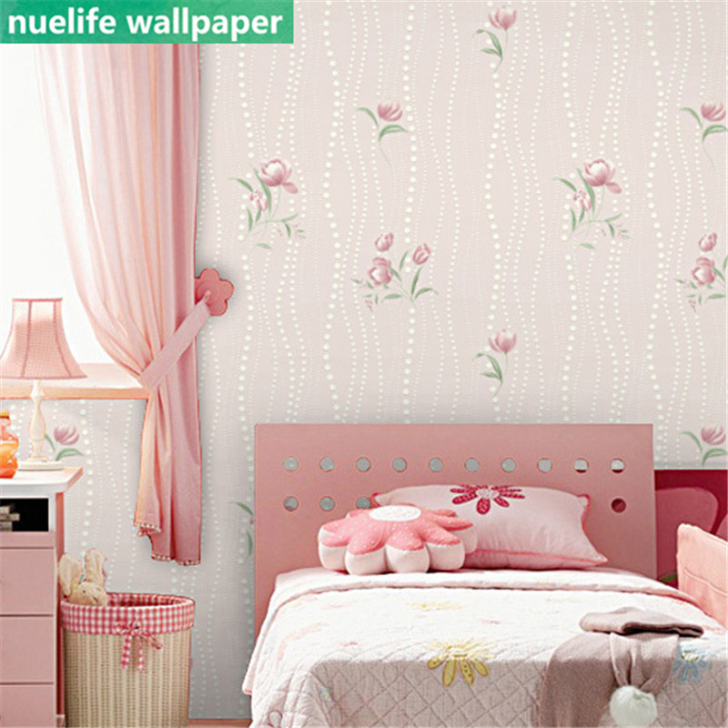 US $35.09 10% OFF|0,53x10 m 3D pastoralen kleine rose muster vlies tapete  schlafzimmer wohnzimmer kinderzimmer esszimmer dekoration tapete N4-in ...
