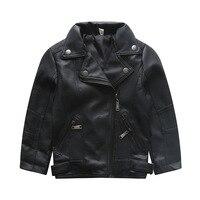 2018 Kids Leather Jacket Coat Children Windbreakers Enfant Toddler Baby Boys Girls Jackets Kids Bomber Outerwear Jacket Clothes
