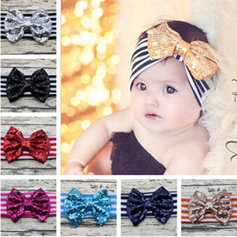 Childern Hairband Sequins Hair Accessories Baby Girl Chiffon