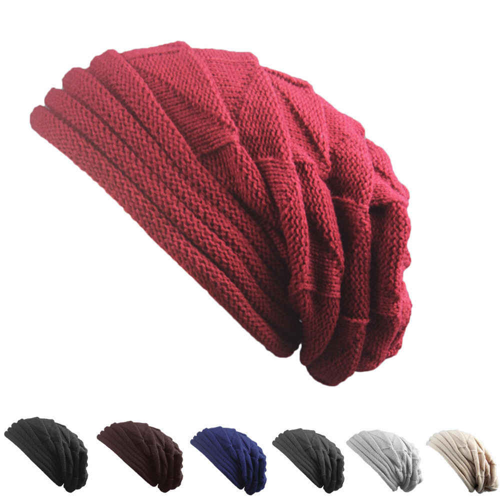 360b6f80e8b41 ... Newest Hot Men Women Knit Oversize Baggy Slouchy Beanie Warm Winter Hat  Ski Chic Cap Skull ...