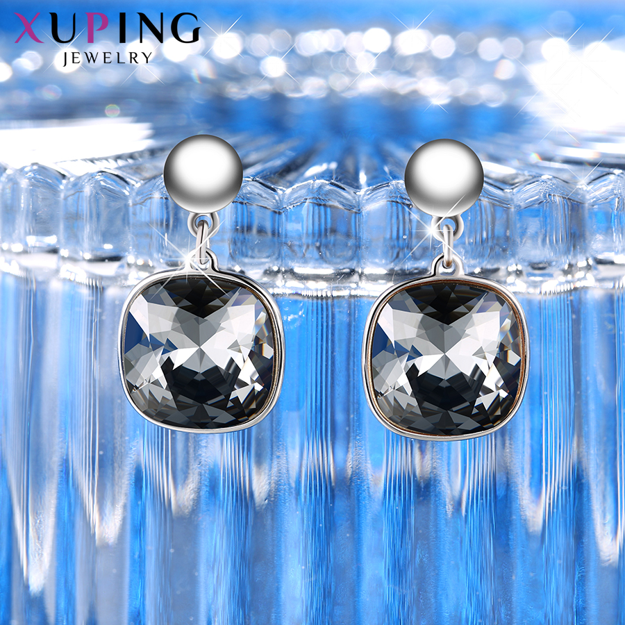 HTB1gHt4XvLsK1Rjy0Fbq6xSEXXaG - Xuping Square Earrings Crystals from Swarovski Luxury Vintage Style Jewellery Women Girl  Valentine's Day Gifts M94-20493