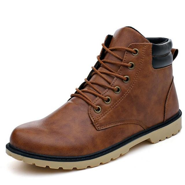 AIKE Asi Hot new men's Martin boots men's boots casual waterproof two cotton boots high men's boots