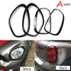 1st Black Red Headlight Taillight Border Decoration Stickers For 2011 16 Mini Countryman R60 Car Styling