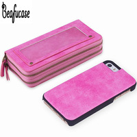 For Coque Apple IPhone 5 Se Case Hard Magnetic Back Cover Wallet Zipper Pouch Case For
