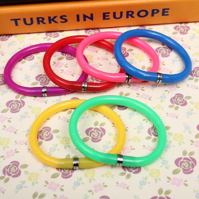 5 piezas Color bolígrafo creativo pulsera novedad flexible bolígrafo papelería creativa regalos pulsera de moda fácil de llevar