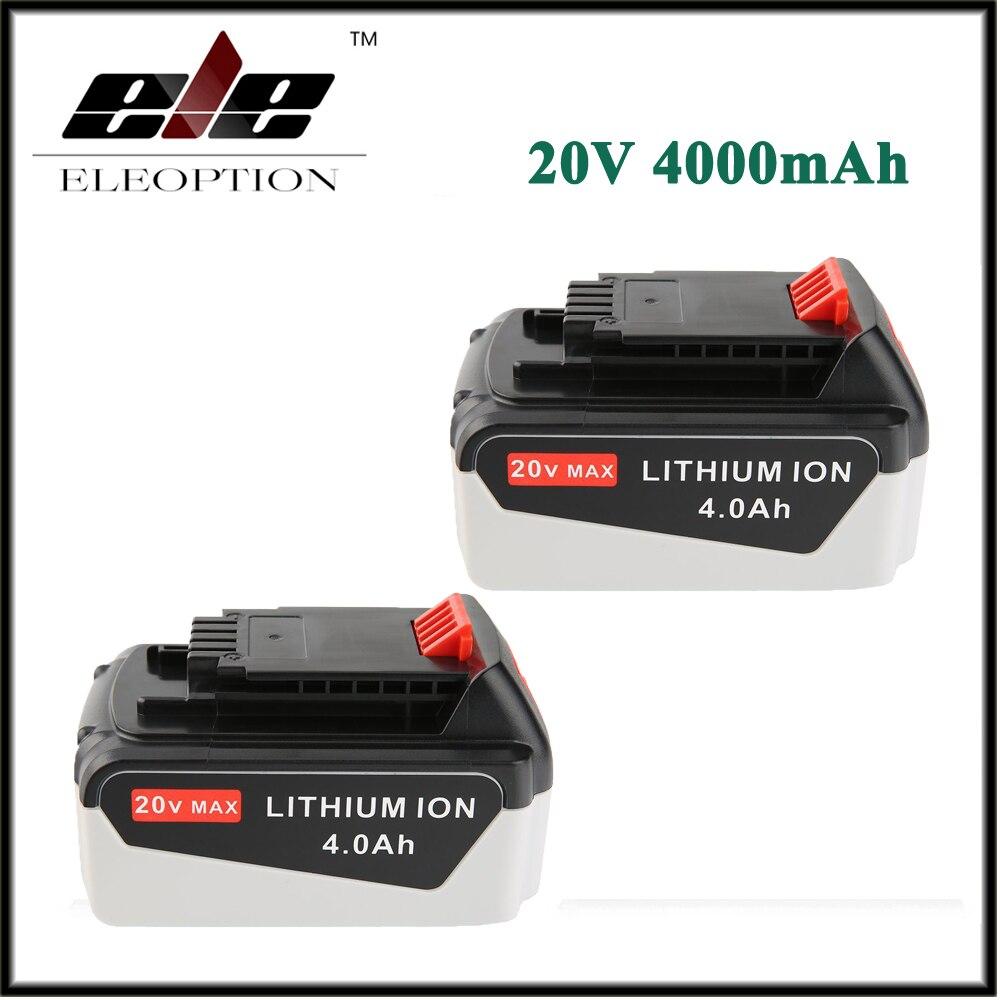 все цены на 2x Eleoption 20V 4000mAh Li-ion Rechargeable Power Tool Replacement Battery for BLACK & DECKER LB20 LBX20 LBXR20 LB2X4020-OPE онлайн