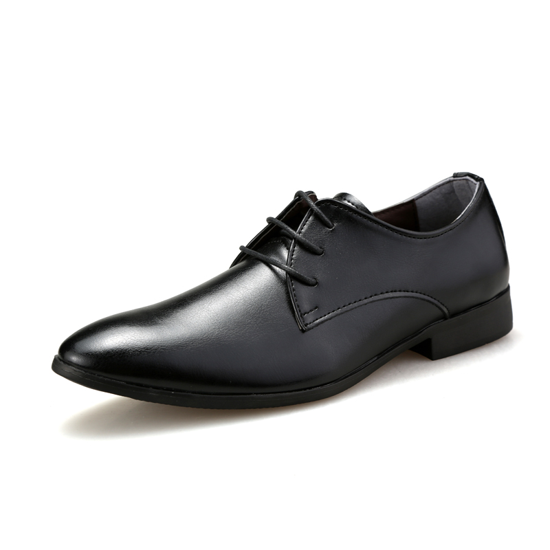 simple classic style mens business leather shoes black brown white color man s office soft leather