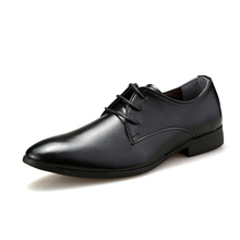 simple classic style mens business leather shoes black brown white color man's office soft leather shoes new gents dress oxfords