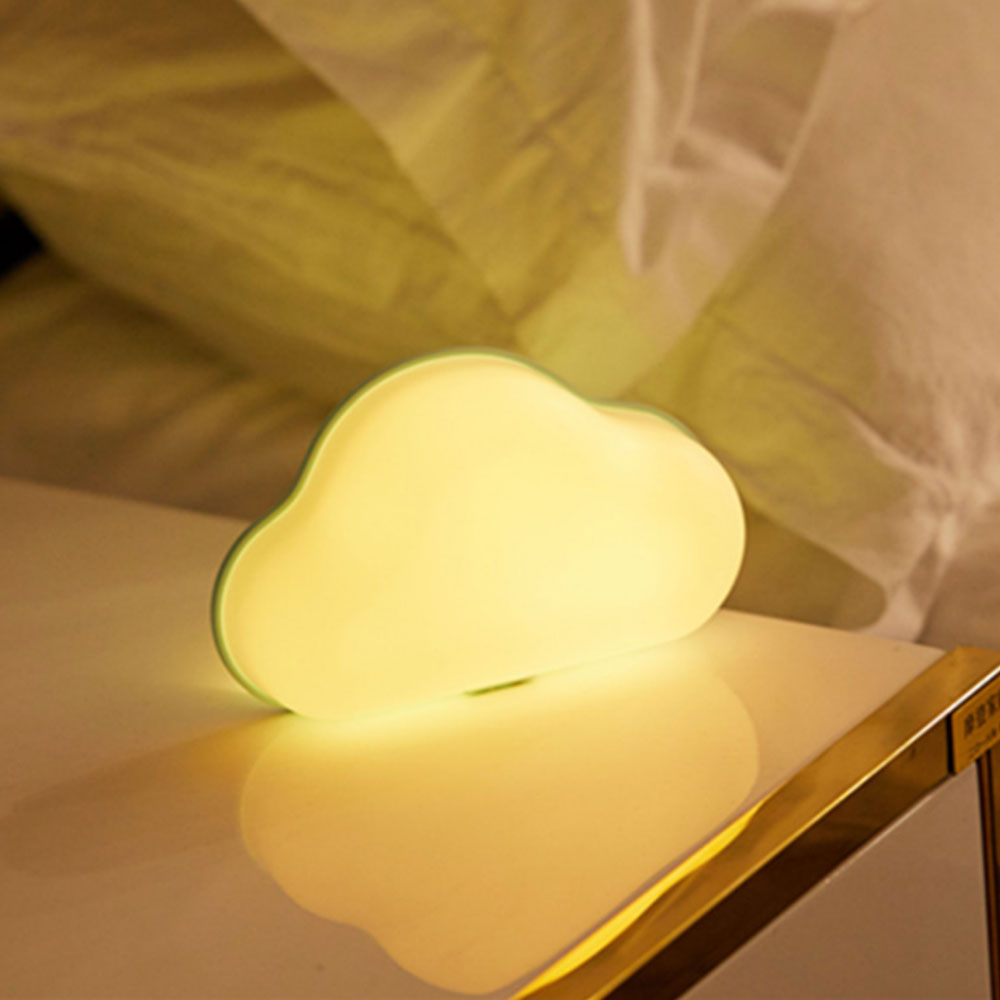 Colorful Cloud LED Night Light Baby Bedside Lamp RGB Sticker Wall Lamp Remote Control USB Power Table Lamp for Children Bedroom