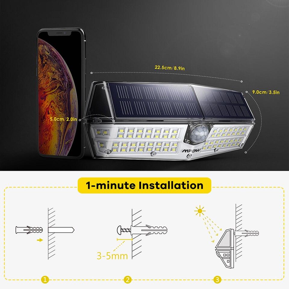 Mpow CD174 3 Adjustable Light Model 66 LED Bright Solar Powered Outdoor Lights (7)