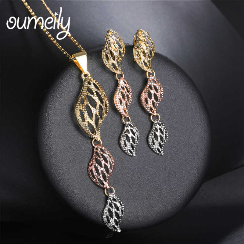 OUMEILY Jewelry Sets Women Fashion African Beads Jewelry Set Wedding Vintage Turkish Jewellery Christmas Indian Jewelry Set