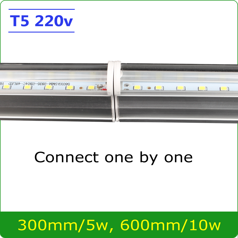 1pcs led tube t5 integrated 300mm 600mm 1ft 2ft 30cm 60cm t5 led tube light lamp 5w 10w 220v led. Black Bedroom Furniture Sets. Home Design Ideas
