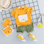 Carters Official Store Sale Casual For Bebek In The Summer Of 2019 New Boy's Joker Cartoon T-shirt Slacks Two-piece Outfit