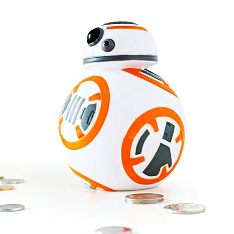 14cm Star Wars Cute BB8 BB-8 Coin Bank Piggy Bank Money Saving Box Money box Figure Toy For Kids The Halloween gift the football game comes to coin money toy box pastic coin cases hidden safe kids piggy bank money toy game bank safe magic jbzq