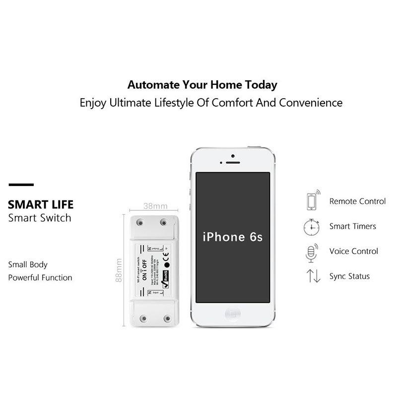 DIY WiFi Smart Light Switch Выключатель Таймер Беспроводной пульт дистанционного управления Работает