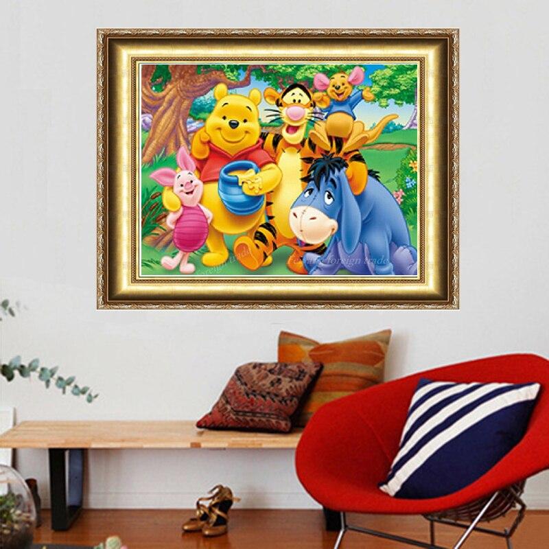 2018 Limitada Urso Diamante Mosaicos Pintura Padrão de Bordado Bordados de  Ponto Cruz Handmade Home Decoração Miçangas Ganchos 10a60f4293281