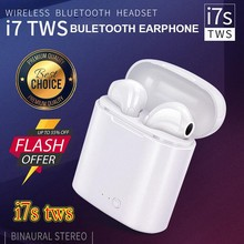 Hot Menjual Nirkabel Bluetooth Earbud I7 Tws Earphone Kembar Earpieces Stereo Headset Casque Sans Olahraga Charger Kotak Headphone(China)
