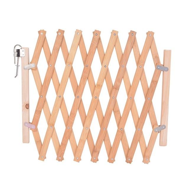 Urijk Retractable Baby Fence Playpen For Dog Safety Gate Pets Indoor Wood Pet Isolating Room Stair Door