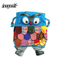 2015 Cute Child Owl Backpack Nation Style Unisex Colorful Bag Features Cartoon Cloth Schoolbag Shoulder Bads