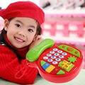 Crianças Telefones de Brinquedo Crianças Plástico ABS Telefone Música Dos Desenhos Animados Presente de Aniversário Toy Estudo Educacional Aprendizagem Precoce Telefone