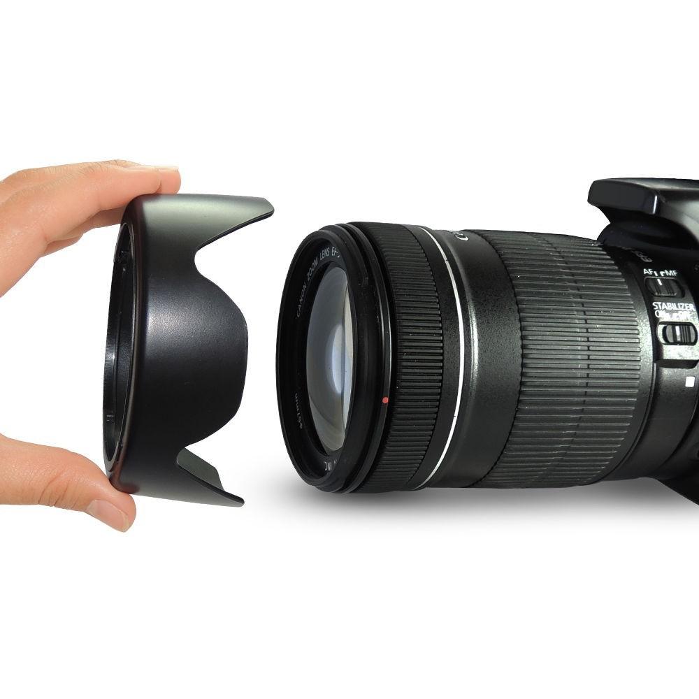 EW-73B 67mm ew 73b EW73B Lens Hood Reversible Camera Lente Accessories for Canon 650D 550D 600D 60D 700D 18-135 17-85 mm Lens 3