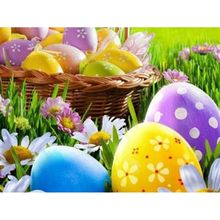 Polka Dot Floral Easter Egg 5D DIY Full Diamond Painting Embroidery Drill Needlework Cross Craft Stitch Kit Home Decor