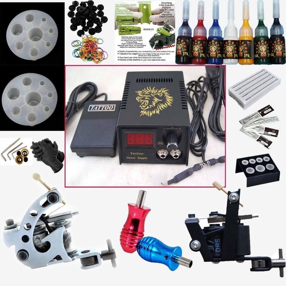 цена Professional tattoo machine set electric gun pattern hook tattoo needle tattoo equipment supply beauty tools