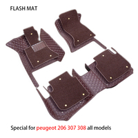 Special car floor mats for peugeot 308 508 206 207 301 307 sw 407 408 2008 3008 4008 5008 car accessories car mats