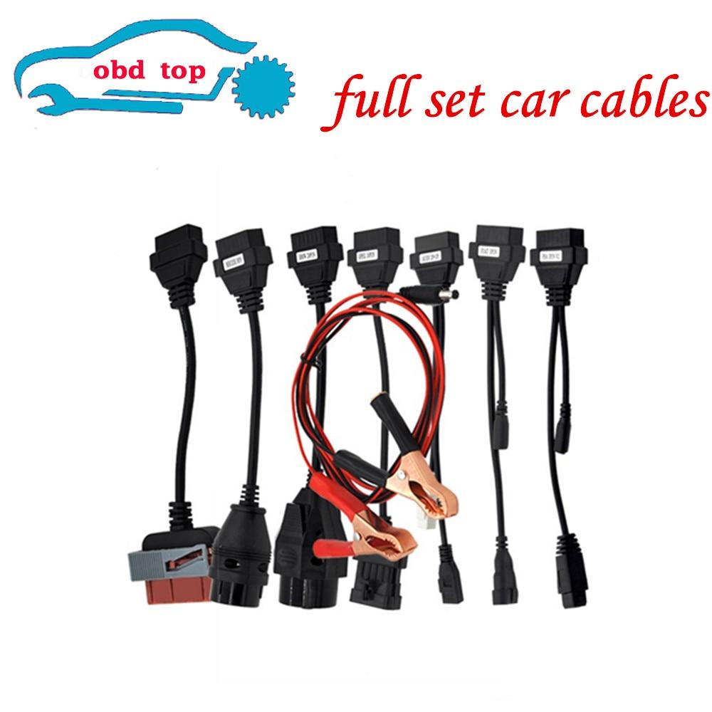 Prix pour Livraison gratuite voiture Câbles Pour wow cdp pour VD CDP Pro OBDII Voitures De Diagnostic Interface Outil ensemble Complet 8 De Voiture câbles