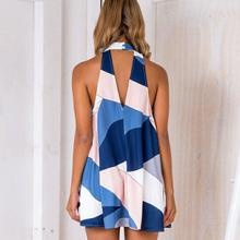 2018 Summer Casual Dress Women Clothings Women Beach Dresses Sleeveless Sexy Backless Short Mini Dress vestidos femininos