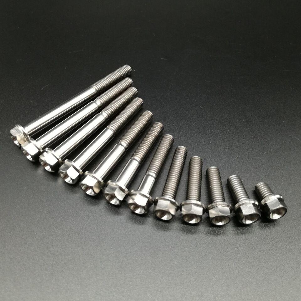 M6x10 15 20 25 30 35 40 45 50 55 60 65mm Titanium Ti Small Flange Hex Head Bolt