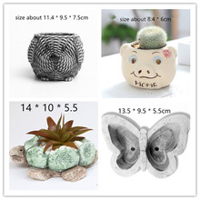 Animal Shape 3D Concrete planter pot silicone molds Garden Desktop Decorating fl