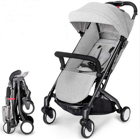Luz carrinho de bebê deitado carrinho de dobramento portátil pode levar uma criança 0-6 anos de idade do bebê