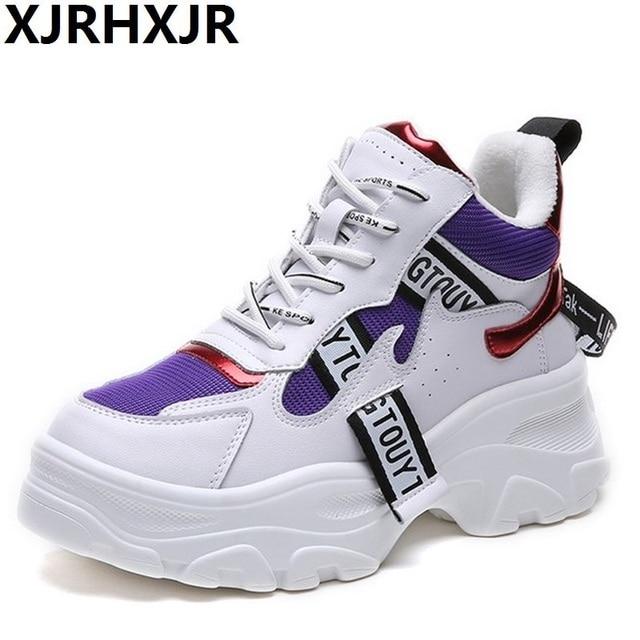Женские кроссовки на платформе 6 см, лидер продаж 2018, женская повседневная обувь 40, большие размеры, дышащие женские кроссовки, Женская Брезентовая обувь